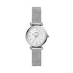 Fossil - Ladies Silver Mother-of-Pearl Analogue Bracelet Watch ES4432