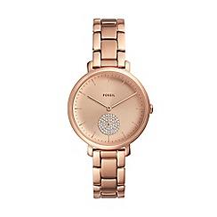 Fossil - Ladies Rose Gold 'Jacqueline' Analogue Bracelet Watch ES4438