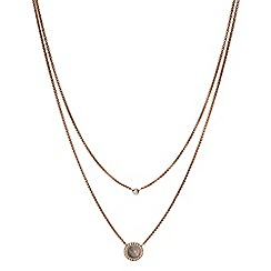 Fossil - Rose Gold Plated Mother of Pearl Multi-Strand Necklace