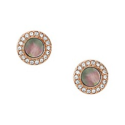 Fossil - Rose Gold Plated Mother of Pearl Stud Earrings