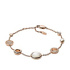 Fossil - Rose Gold Plated Mother of Pearl Chain Bracelet