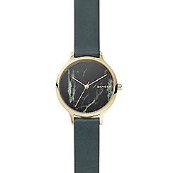 Skagen - Ladies Green 'Anita' Analogue Leather Strap Watch SKW2720
