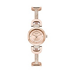 DKNY - Ladies Rose Gold 'Pave' Analogue Bangle Watch NY2752
