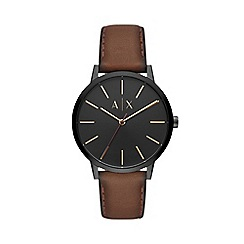 Armani Exchange - Men's Brown 'Smart' Analogue Leather Strap Watch AX2706