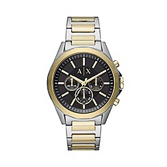 Armani Exchange - Men's Gold and Silver 'Smart' Chronograph Bracelet Watch AX2617