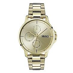 Hugo - Men's gold analogue bracelet watch 1530026