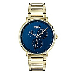 Hugo - Men's gold analogue bracelet watch 1530011