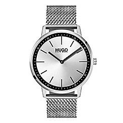 Hugo - Men's silver analogue bracelet watch 1520010