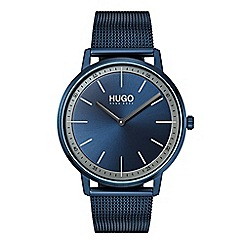 Hugo - Men's blue analogue bracelet watch 1520011