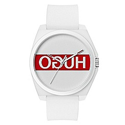 Hugo - Unisex white analogue strap watch 1520013
