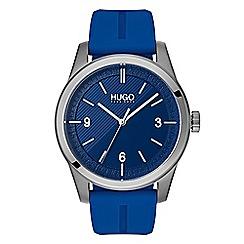 Hugo - Men's blue analogue strap watch 1530013