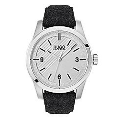 Hugo - Men's grey analogue strap watch 1530027