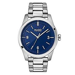 Hugo - Men's silver analogue bracelet watch 1530015
