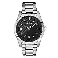 Hugo - Men's silver analogue bracelet watch 1530016