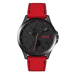 Hugo - Men's red analogue strap watch 1530003