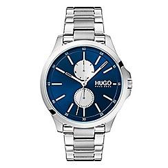 Hugo - Men's silver analogue bracelet watch 1530004