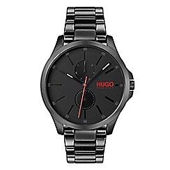 Hugo - Men's black analogue bracelet watch 1530028