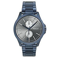 Hugo - Men's blue analogue bracelet watch 1530006