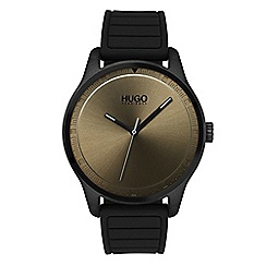 Hugo - Men's black analogue strap watch 1530041