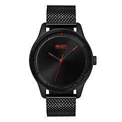 Hugo - Men's black analogue bracelet watch 1530044
