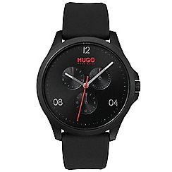 Hugo - Men's black analogue strap watch 1530034