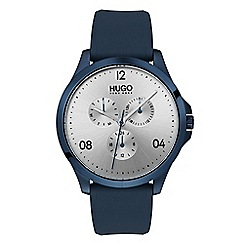 Hugo - Men's blue analogue strap watch 1530037