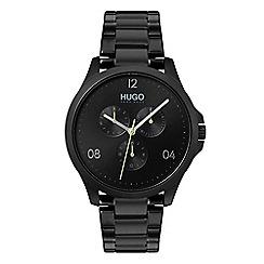 Hugo - Men's black analogue bracelet watch 1530038
