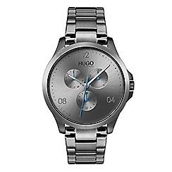 Hugo - Men's grey analogue bracelet watch 1530039