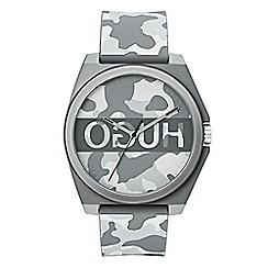 Hugo - Men's grey analogue strap watch 1520018