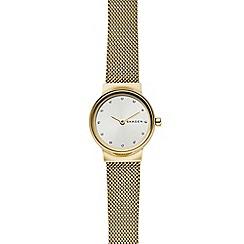 Skagen - Ladies gold 'Freja' analogue mesh bracelet watch