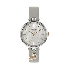 Radley - Ladies Grey 'St Dunstan's' Analogue Leather Strap Watch RY2653