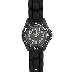 Tikkers - Kid's black rubber strap watch tk0064