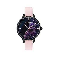fdc057a9c6ca Ted Baker - Ladies pink  Kate  Mother of Pearl analogue leather strap watch  TE50005020