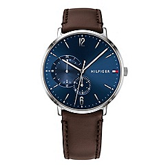 Tommy Hilfiger - Men's brown analogue leather strap watch 1791508