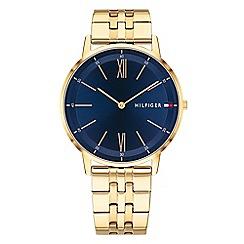 Tommy Hilfiger - Men's gold analogue bracelet watch 1791513