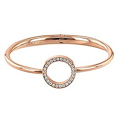 Tommy Hilfiger - Rose gold plated open circle bangle