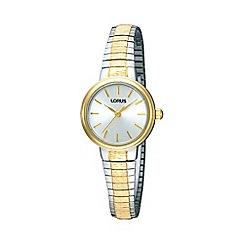 Lorus - Ladies gold round dial two tone bracelet watch rrs37tx9