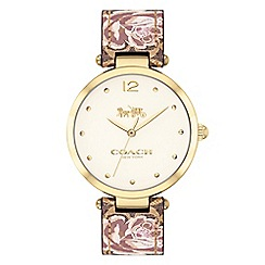 Coach - Ladies multi-coloured 'New York' analogue strap watch
