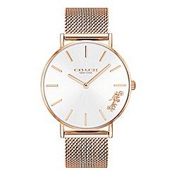 Coach - Ladies rose gold 'New York' analogue bracelet watch