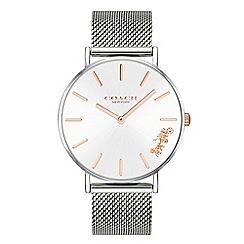 Coach - Ladies silver 'New York' analogue bracelet watch