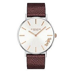 Coach - Ladies metallic red 'New York' analogue strap watch
