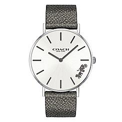 Coach - Ladies metallic grey 'New York' analogue strap watch