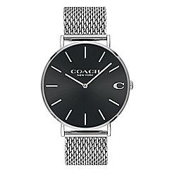 Coach - Men's silver 'Charles' analogue bracelet watch