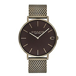 Coach - Men's brown 'Charles' analogue bracelet watch
