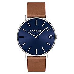 Coach - Men's brown 'Charles' analogue strap watch
