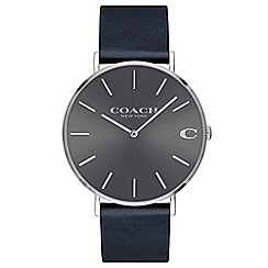 Coach - Men's navy 'Charles' analogue strap watch