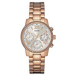 Guess - Ladies rose gold bracelet watch W0623L2
