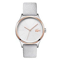 Lacoste - Ladies grey analogue leather strap watch