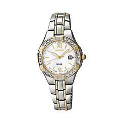 Seiko - Ladies two-tone stainless steel bracelet watch sut068p9