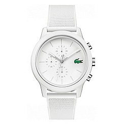 Lacoste - Men's white chronograph silicone strap watch